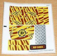 LEGO Dino Adesivi arco Set 5885, completamente