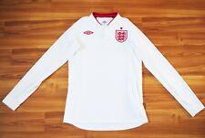 ENGLAND NATIONAL TEAM 2012 2013 UMBRO HOME FOOTBALL SHIRT JERSEY LONGSLEEVE 36/S