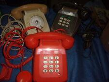 3 Ancien Telephone Socotel Vintage Orange S 63 , beige , blanc , pour pieces