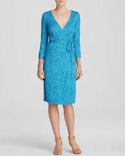 SZ 6 Diane von Furstenberg DVF New Julian Two Wrap Stretch Dress Petal Dreams