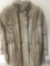 Real fur fox coat red golden size l