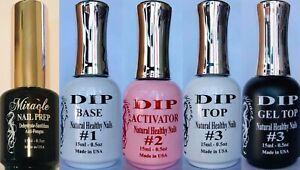 Miracle Dip Liquid Steps 1, 2, 3