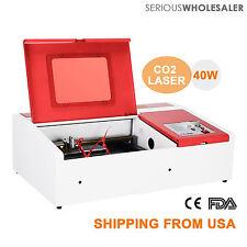 "40W CO2 Laser Engraving Machine 12""x 8"" Engraver Cutter w/ USB Port"