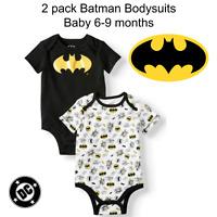 2 Pack Baby Boys Batman Bodysuit 3-6 Months Creeper Outfit Superhero One Piece