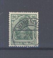 Dt. Reich Mi.Nr. 143c, 20 Pfg. Freimarke gestempelt, geprüft Infla (33253)