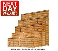 Golden Orange Wooden Garden Waney Lap Overlap Fence Panels 6ft 5ft 4ft 3ft 2ft