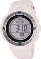 Casio Women's Pro Trek Triple Sensor Tough Solar Pink Resin Watch PRG330-4
