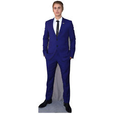 JUSTIN BIEBER Lifesize CARDBOARD CUTOUT Standup Standee Poster Blue Suit F/S