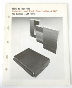 Polaroid #405 Land Pack Film Holder Instruction Manual