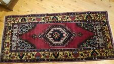 "Antique 1900-1939's Turkish Tribal Rug 4'2"" × 9"""