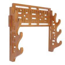 4-Tier Sword Stand Wall Mount Bamboo Samurai Sword Display Holder Bracket Hanger