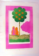 Litho Couleurs XX° EVE Signée Jean-Jacques Surian 1970 N° 6/7 dédiée à M. Latour