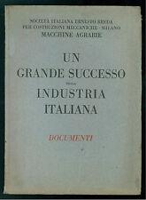 ERNESTO BREDA MILANO UN GRANDE SUCCESSO DELLA INDUSTRIA ITALIANA DOCUMENTI 1916