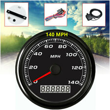 85MM GPS 140MPH Speedometer Gauge Car SUV Motorcycle Backlight + 3.9M Cable Set