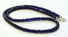 SAPHIRKETTE  edelsteinkette Fecettierte Rondell blau saphire Saphir kette Top .