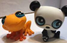😊 LPS #90 PANDA BEAR AND #874 ORANGE FROG MINOR BLEMISHES LITTLEST PET SHOP