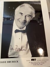 Dave Brubeck Jazz Big Band Pianist Legend Great Signed Autograph Photo 8x10