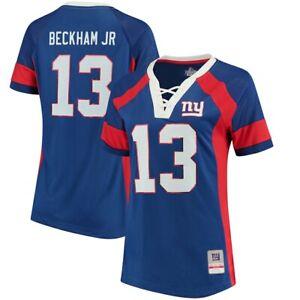 NFL Women's Shirt New York Giants Draft 2017 Odell Beckham Women's Girls Ladies