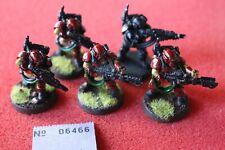 Games Workshop Warhammer 40k Kasrkin Stormtroopers x5 Flamers Painted Metal Army