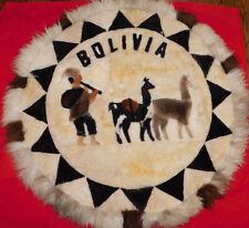 New listing Bolivia Indian Blanket Circle Alpaca-Rare!