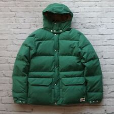 NEW North Face Quilted Down Sierra Parka Jacket M Green Puffer Puffy Brown Label