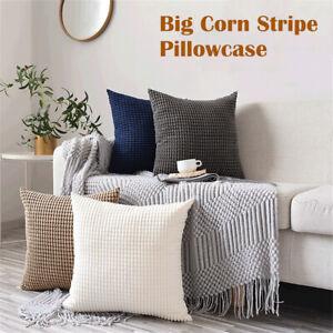 Pack of 2 Corduroy Cushion Cover Velvet Throw Pillow Case 45x45cm Home Decor