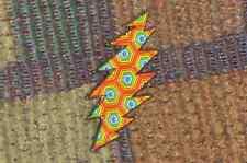 Dead Head Rainbow ROYGBIV 13 Point Lightning Bolt Enamel Lapel Hat Pin