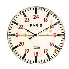 OROLOGIO DA PARETE PARIS 1886 IN LEGNO OROLOGI A MURO ANTICO VINTAGE Ø 60 CM