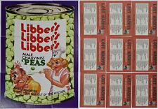 LOST WACKY PACKAGES 2ND SERIES Complete ALTERNATE PUZZLE SET #1 LIBBER'S