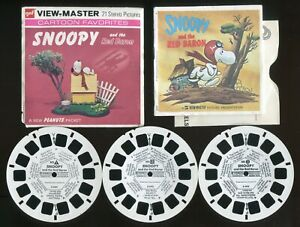 GAF View-Master Packet #B544 Style G4 Peanuts Snoopy and the Rad Baron Complete