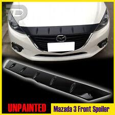 In Stock LA! Glossy Mazda 3 4D 5D Maxx Front Hood Bonnet Spoiler Fin GX GS