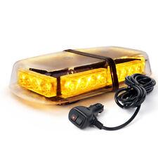 24 LED Vehicle Rooftop Warning Emergency Flash Mini Strobe Light Bar Amber