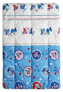 Odeja Kids Ana Medium Weight Quilt (120 x 80 cm)   M3v blue