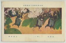 Japan Painting on Vintage Postcard (1)