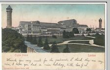 London; Crystal Palace, PPC London SE 7 Squared Circle 1903 PMK, To Miss Leeming