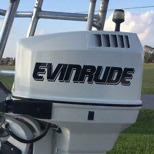 2 - Evinrude Outboard decals marine vinyl  this set black