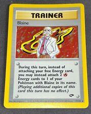 Pokemon Card - Blaine Holographic - Gym Challenge Set - 17/132