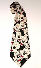 Disney Mickey Mouse Men's Tie Classic Size Black White Red All Silk