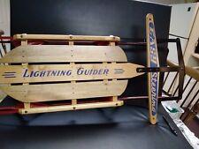 NEW #40 LIGHTNING GUIDER SLED EASY STEERING MADE IN DUNCANNON PA.BRAND NEW RARE