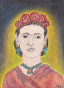 Original Pastel Artwork of Frida Kahlo
