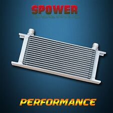 Universal 16 Row AN10 Engine Transmission 248mm Oil Cooler Mocal Style Silver