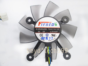 ASUS FD8015U12S AMD Video Card Fan Replacement 4 x 43mm 4Pin 12V 0.5A 75mm