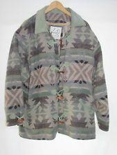 Katheryn Deene Sage Green Gray Taupe Wool Native Design Jacket Women's XL R3