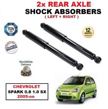 REAR LEFT and RIGHT SHOCK ABSORBERS SET fits CHEVROLET SPARK 0.8 1.0 SX 2005-on