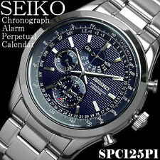 Seiko Stainless Steel Strap Luxury Polished Wristwatches