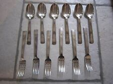 COFFRET 12 PIECES MODERNISTE METAL ARGENTE CHRISTOFLE MODELE GABON FJERDINGSTAD
