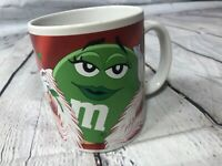 Galerie Ceramic M&M's Coffee Mug Tea Cup Ms. Green Pink Rose Hearts