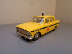 RUSSIAN MADE VINTAGE MOSKVITCH 408 No A1 1:43 MADE IN USSR VERY RARE ITEM MINT