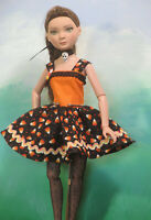 Candy corn Halloween Dress 16 inch Ellowyne, Pru, Amber, BJDs