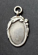 SILVER ART NOUVEA MEDALLION FROM FIRTH HOSPITAL - 1944